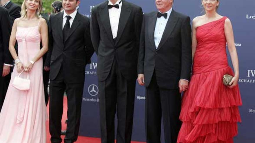 Corinna, el Rey y los entonces Duques de Palma en una entrega de Premios 2006