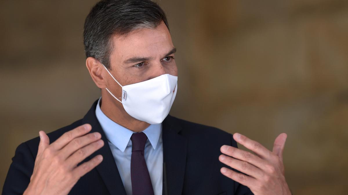 El presidente del Gobierno, Pedro Sánchez, pedirá este viernes en Atenas unidad a los líderes euromediterráneos para afrontar las negociaciones del pacto sobre migración y asilo de la Unión Europea. EFE/ Eloy Alonso