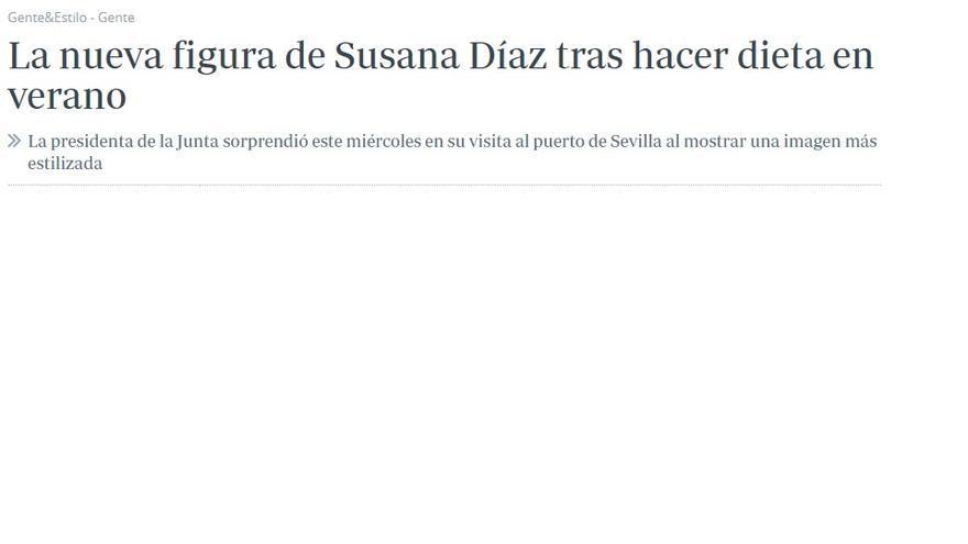 Captura del artículo sobre Susana Díaz en el ABC.