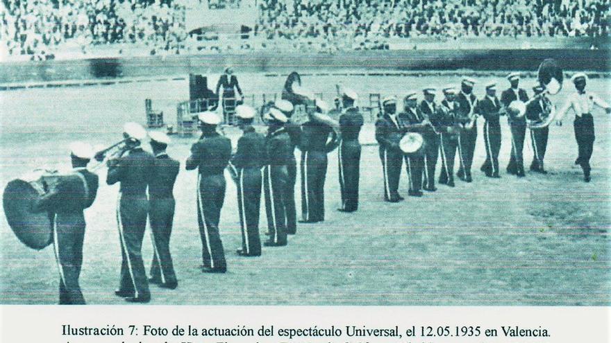 The Black Stars Band en la plaza de toros de Valencia (1935). Mundo Gráfico.
