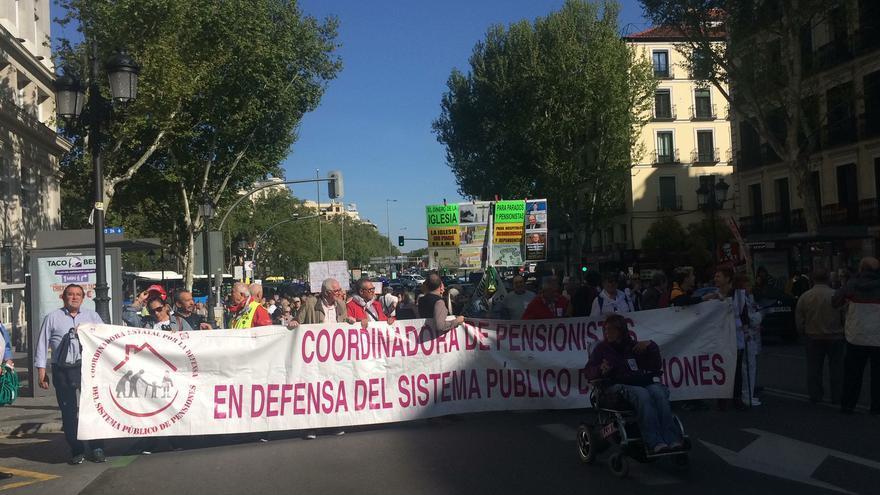 Cientos de personas se han manifestado en Madrid por una pensión digna
