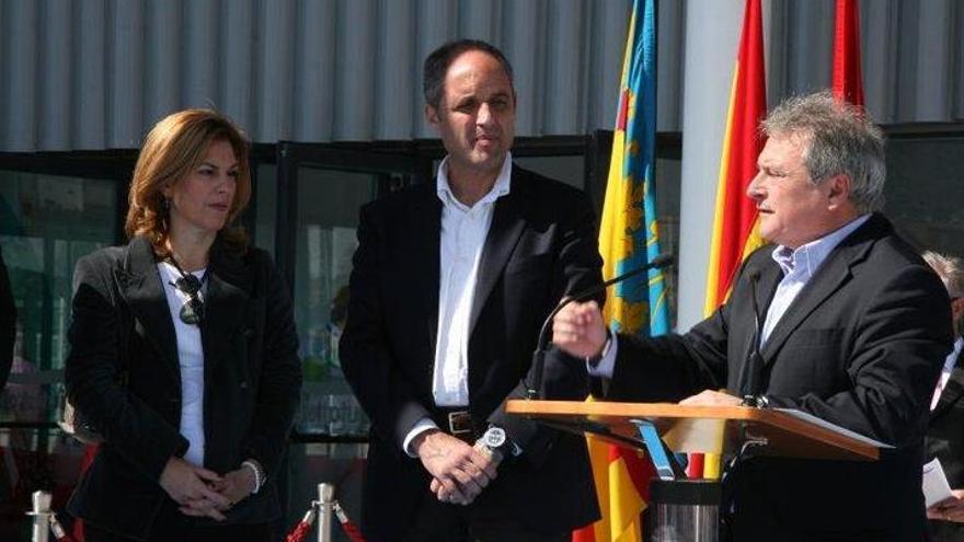 Francisco Camps y Alfonso Rus, durante la inauguración de la Ciutat de l'Esport antes de las elecciones de 2011