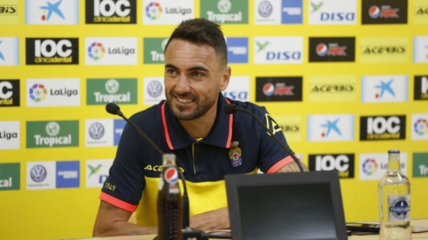 El jugador de la UD Las Palmas, Jerónimo Figueroa 'Momo'.
