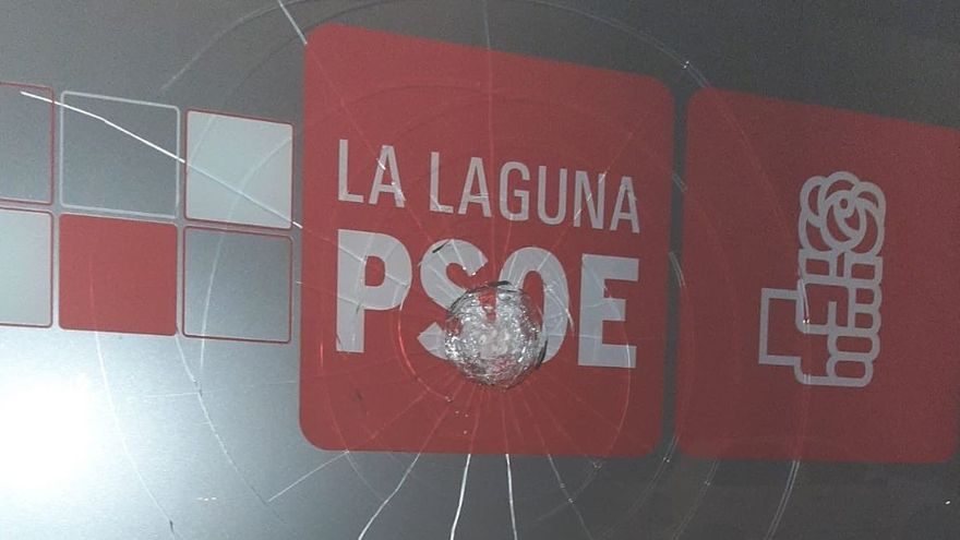 La sede del PSOE en La Laguna vuelve a ser atacada