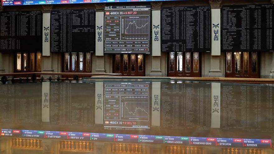 La Bolsa española abre plana, sube un 0,07 % y se acerca a los 9.900 puntos