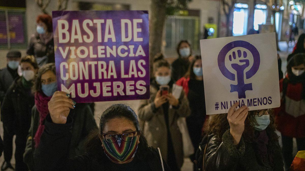 Concentración en Lavapiés (Madrid) el pasado 25N Día Internacional contra la Violencia Machista