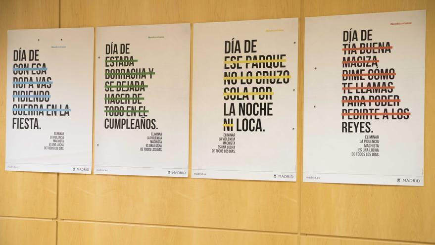 Carteles de la nueva campaña del Ayuntamiento de Madrid contra las violencias machistas / Ayuntamiento de Madrid