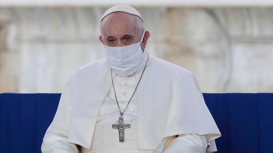 El Papa Francisco, con mascarilla
