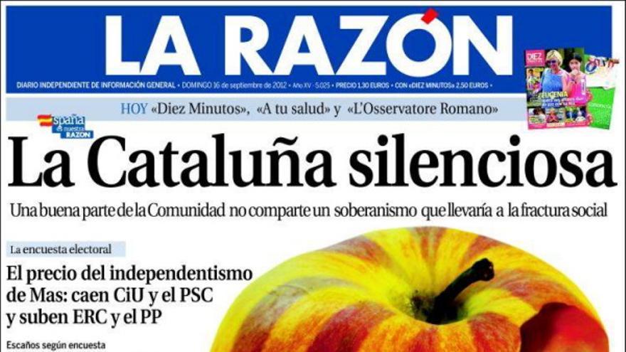 De las portadas del día (16/09/2012) #8