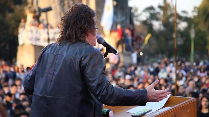 Milei, en el último acto en Palermo