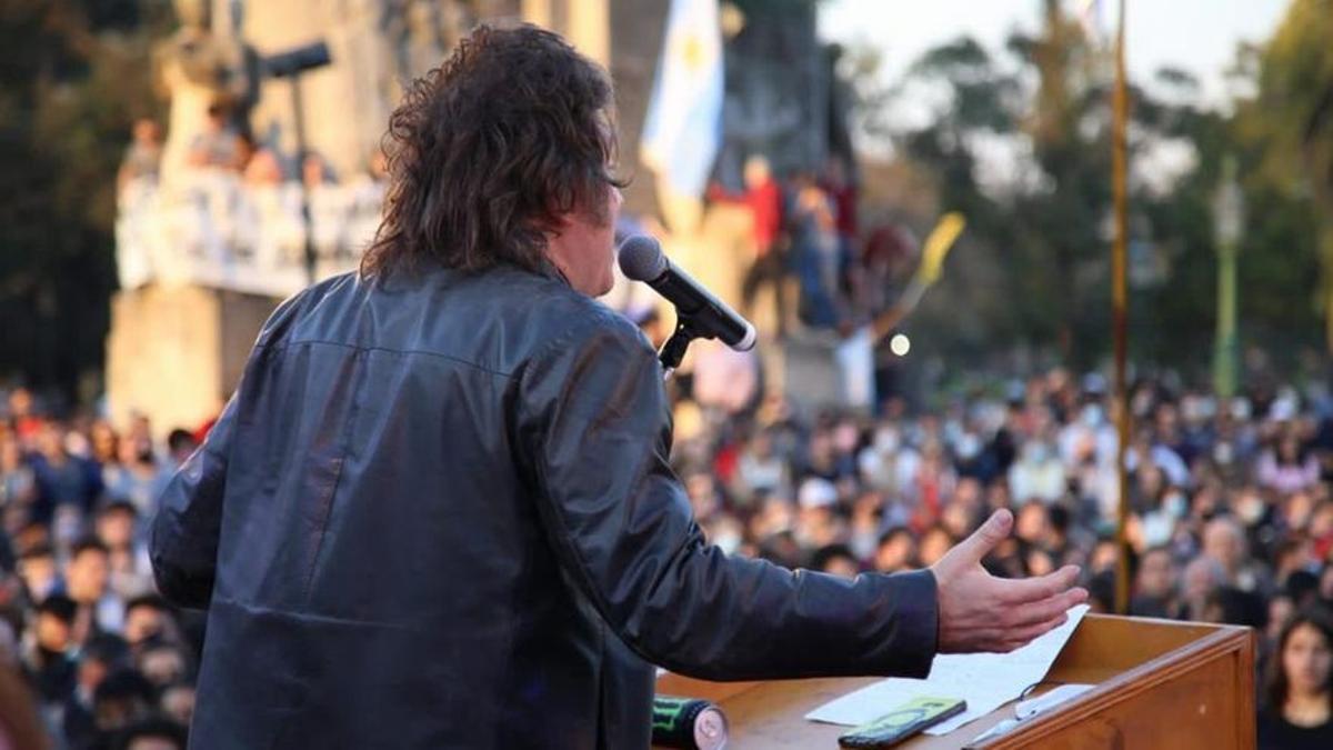 Milei, en el último acto en Palermo.