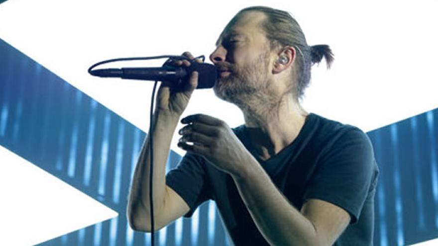 Thom Yorke, de Radiohead, durante un concierto