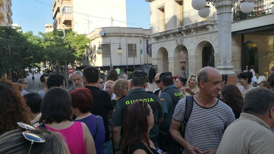 La Guardia Civil cuando acudió a la concentración.