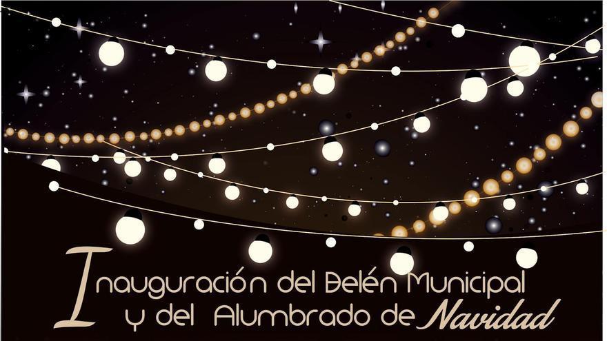 Cartel de la actuación en El Paso de la Rondalla de lo Divino de San Francisco de Asís en la inauguración del Belén municipal y el alumbrado público navideño.
