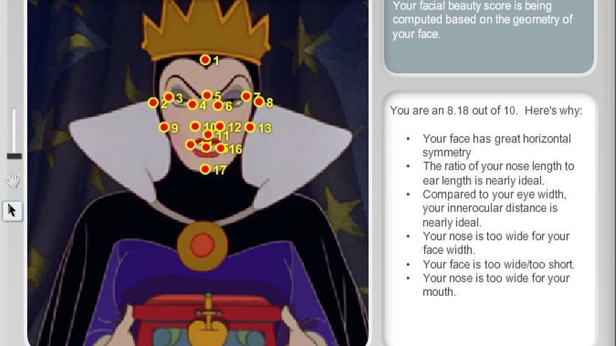 La web Anaface.com valora la belleza en base a características geométricas