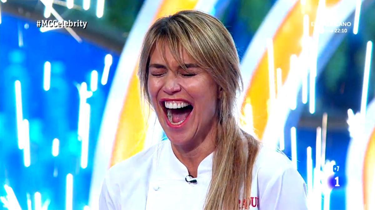 Raquel Meroño al ganar 'MasterChef Celebrity 5'