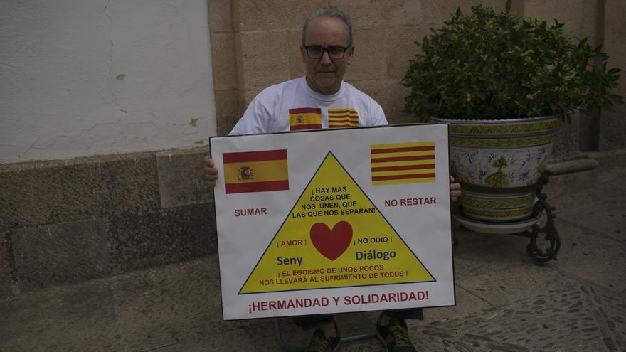 """Un rondeño inicia una huelga de hambre en solidaridad con los catalanes """"que se sienten españoles"""""""