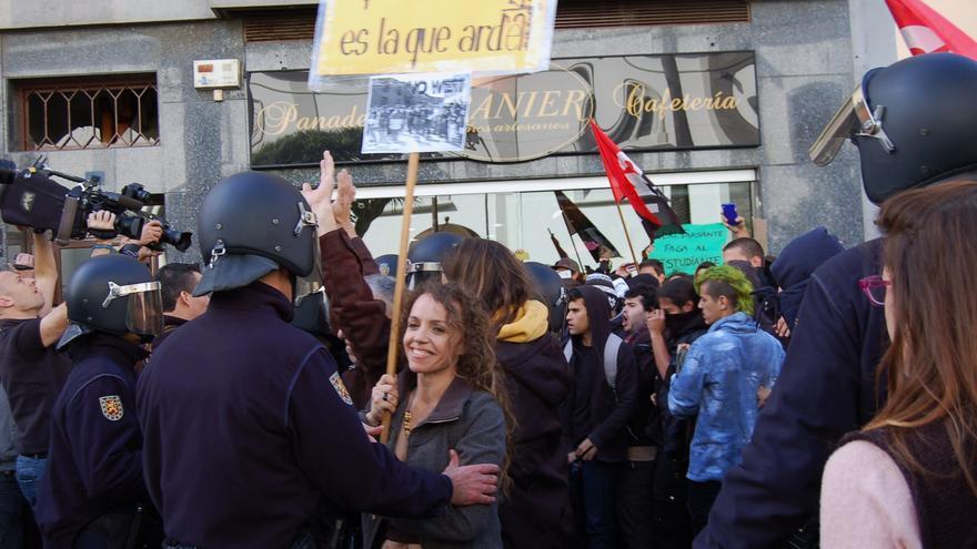 Manifestantes en La Laguna