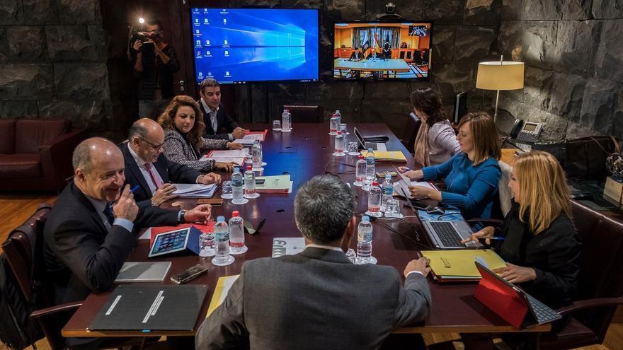 Imagen de la reunión del Consejo de Gobierno de este lunes