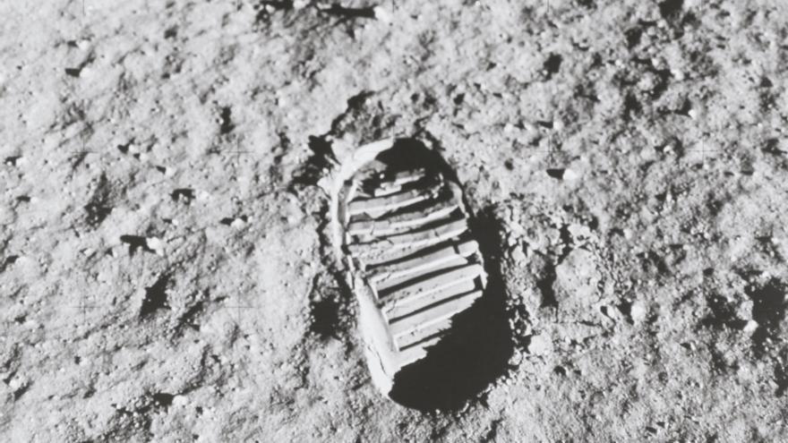 Huella de Buzz Aldrin en la Luna, el 20 de julio de 1969