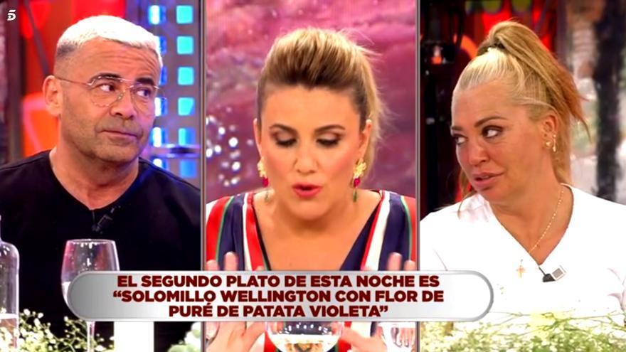 JJ Vázquez y Belén Esteban en 'La última cena'