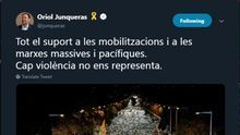 Los políticos independentistas presos condenan la violencia en un mensaje unánime publicado en sus redes sociales