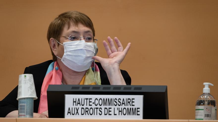 En la imagen, la alta comisionada de la ONU para los Derechos Humanos, Michelle Bachelet.
