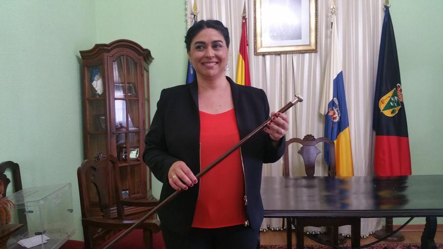 Nieves Mary Rodríguez, primera alcaldesa de Fuencaliente. Foto: LUZ RODRÍGUEZ