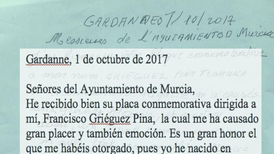 Una víctima murciana del nazismo agradece su reconocimiento al Ayuntamiento de Murcia