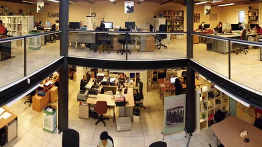 Sede del grupo cooperativo Ecos. 13 empresas de economía solidaria. FOTO: EVA SANLEANDRO