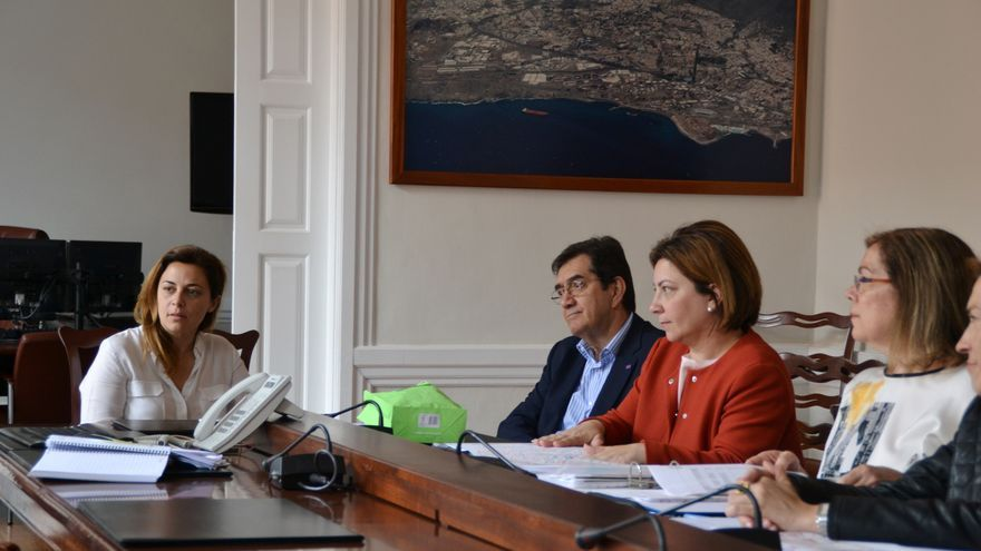 Reunión celebrada entre el Ayuntamiento lagunero y la ULL