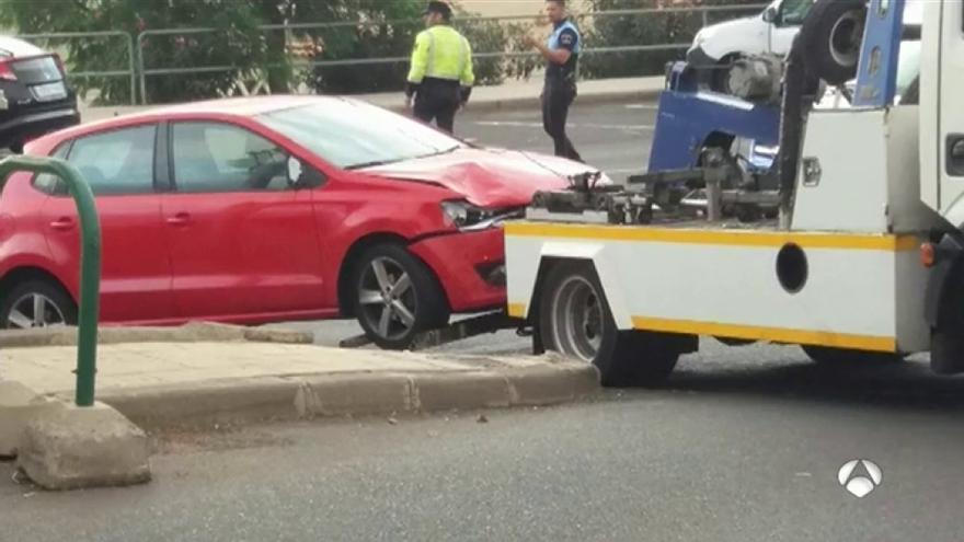 Vehículo que produjo el accidente el martes por la mañana, en García Escámez