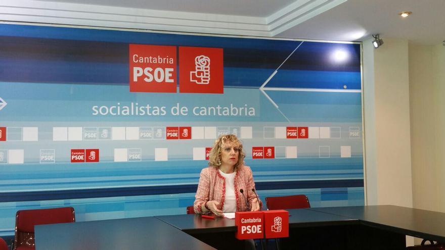 La secretaria general del PSOE de Cantabria, Eva Díaz Tezanos. | LARO GARCÍA