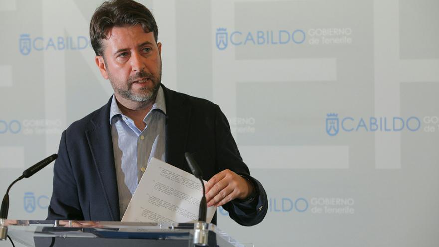 El presidente del Cabildo de Tenerife, Carlos Alonso. (Páginal oficial Cabildo de Tenerife).