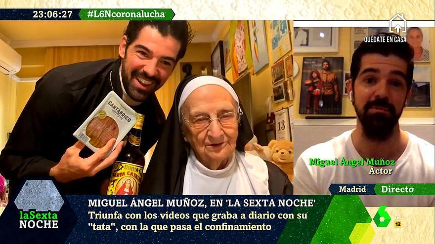 """Miguel Ángel Muñoz pasa el confinamiento con su """"tata"""" de 95 años: """"Está siendo maravilloso"""""""