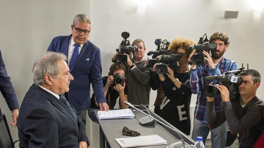 Alfonso Rus presentó este martes el proyecto de televisión de la Diputación
