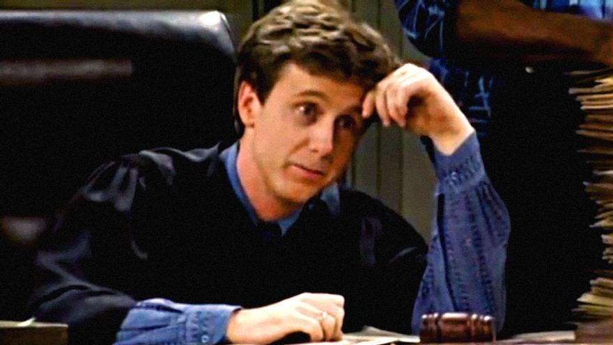 """El actor Harry Anderson en """"Juzgado de guardia"""""""