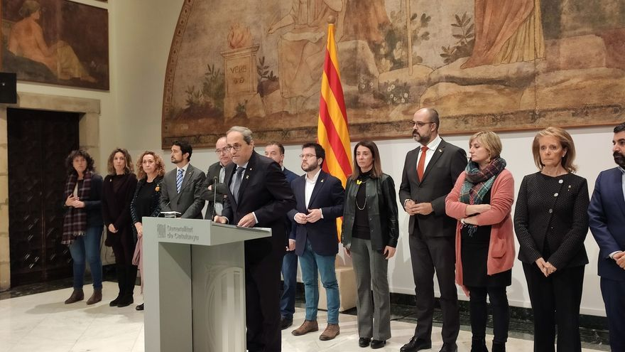 """Torra ante la decisión de la JEC sobre Junqueras: """"Vivimos en una democracia tan solo aparente"""""""