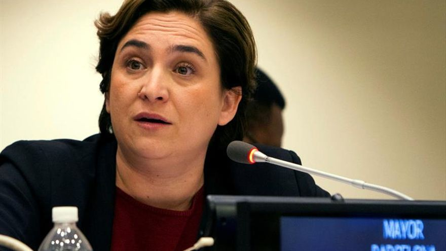 Ada Colau critica en la ONU las políticas de acogida de refugiados en Europa