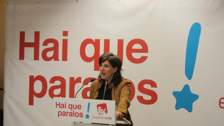 """Yolanda Díaz (AGE): """"Los 'escraches' son la única arma que tienen los que sufren la crisis para defenderse"""""""