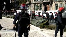 Captura del vídeo de la intervención policial en Bilbao