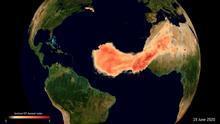 "La Agencia Espacial Europea sigue a 'Godzila', la ""inusual"" columna de polvo del Sahara"