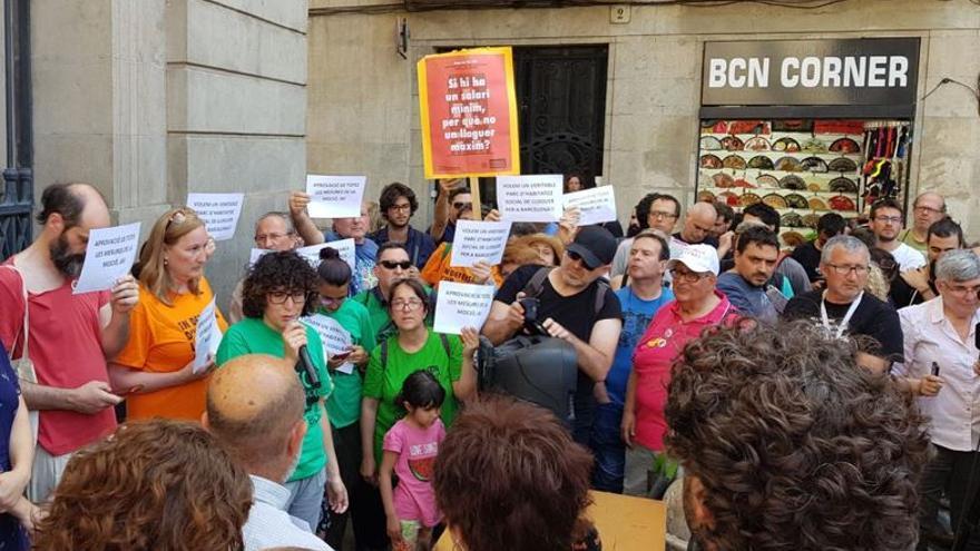 Movilización en Barcelona contra la especulación