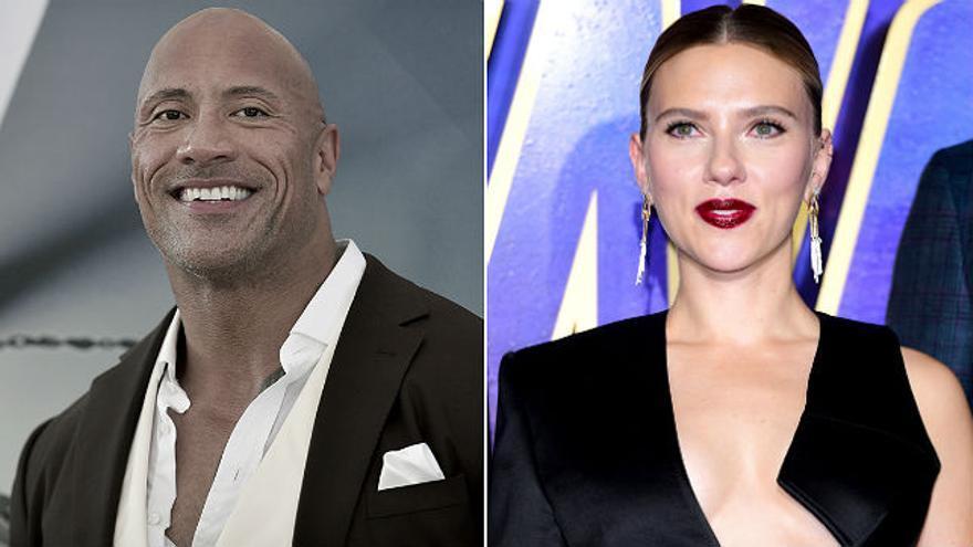 Dwayne Johnson y Scarlett Johansson los mejores pagados de Hollywood... con diferencia