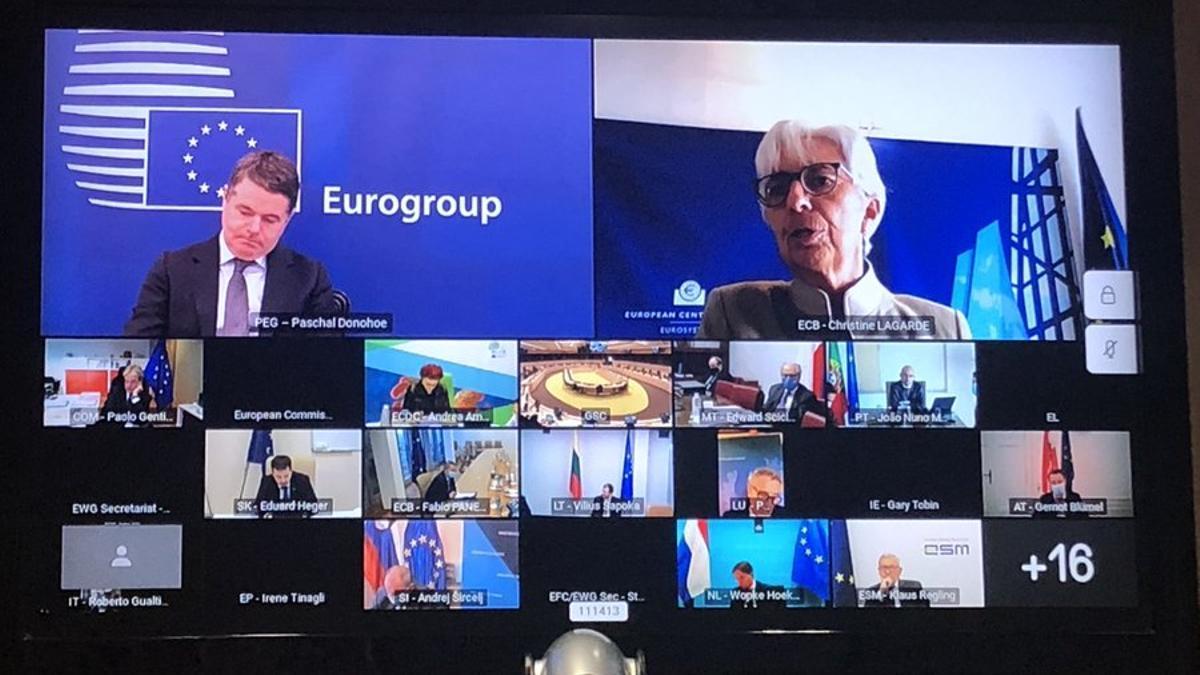 Reunión por videoconferencia del Eurogrupo del 3 de noviembre de 2020.