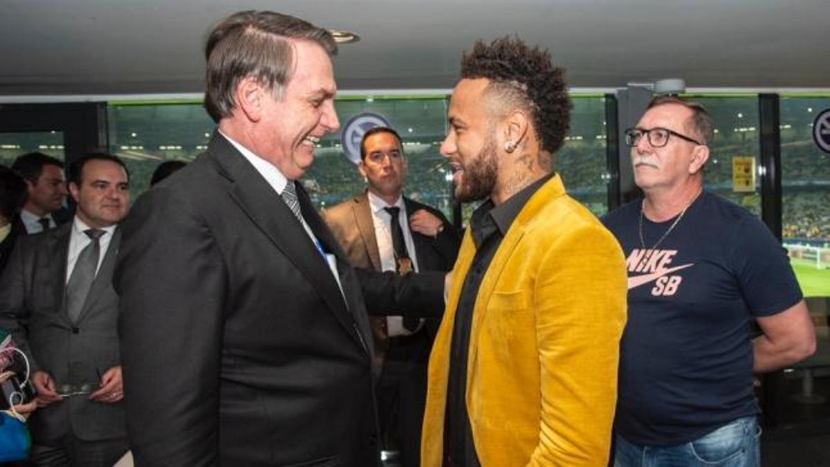 Jair Bolsonaro y Neymar, en una fotografía de julio de 2019, en ocasión de la Copa América.