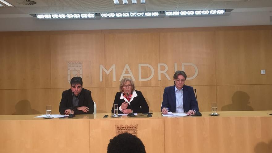Rueda de prensa de Manuela Carmena tras la destitución de Carlos Sánchez Mato