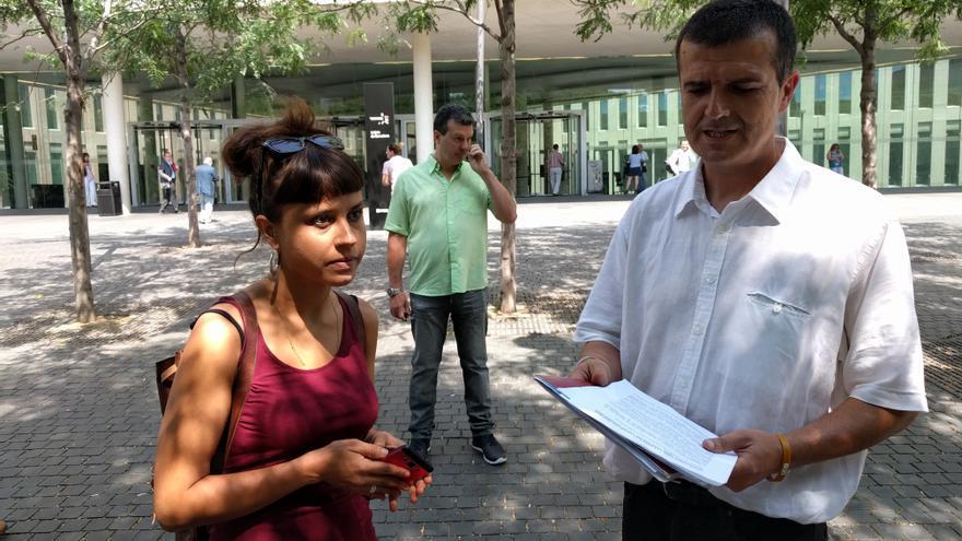Maria Rovira y Quim Duran, diputados de la CUP en la Diputación de Barcelona