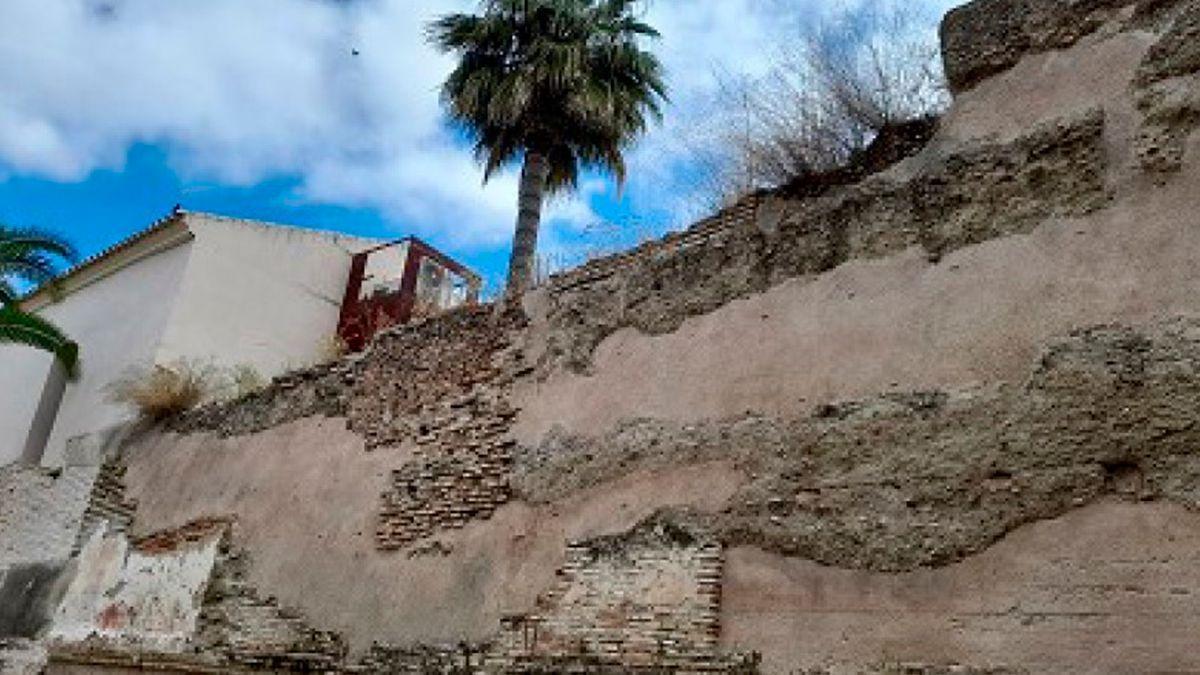 Muralla de Palma del Río sobre la que se va a actuar.