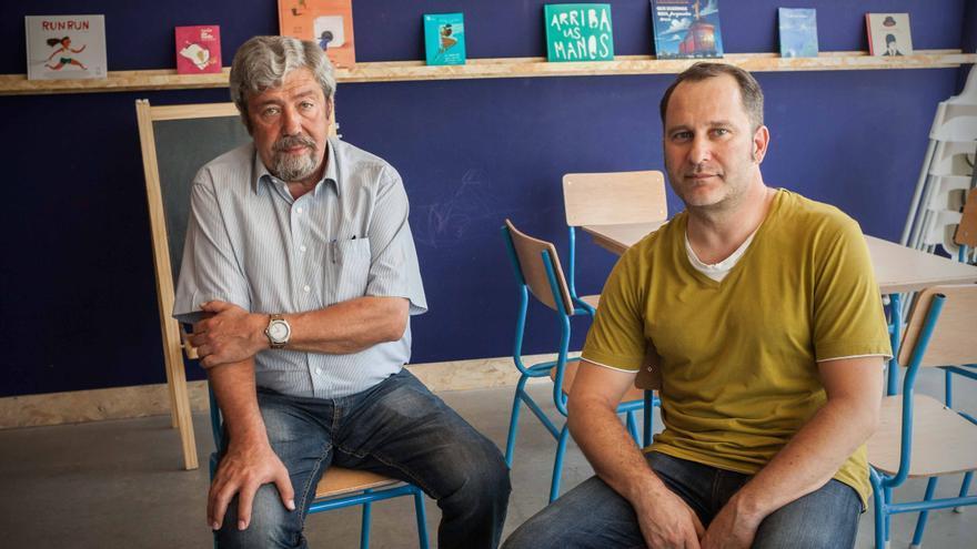 Agustín Gavín (izqda) y Roberto Asensio (dcha). Foto: Juan Manzanara.